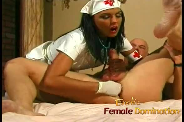 0/busty nurse fucks her kinky patient with a giant strap-on