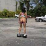 Sexo com gostosa usando hover board