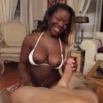 THUMBNUM/thick black girl tries white dick